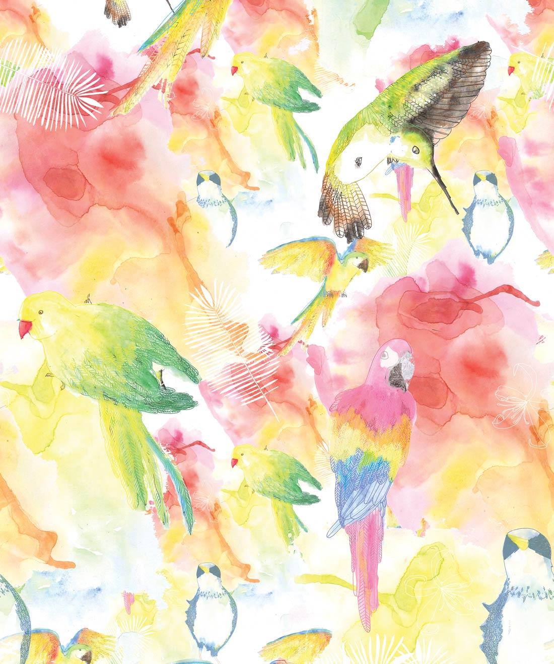 WaterColor Birds Wallpaper