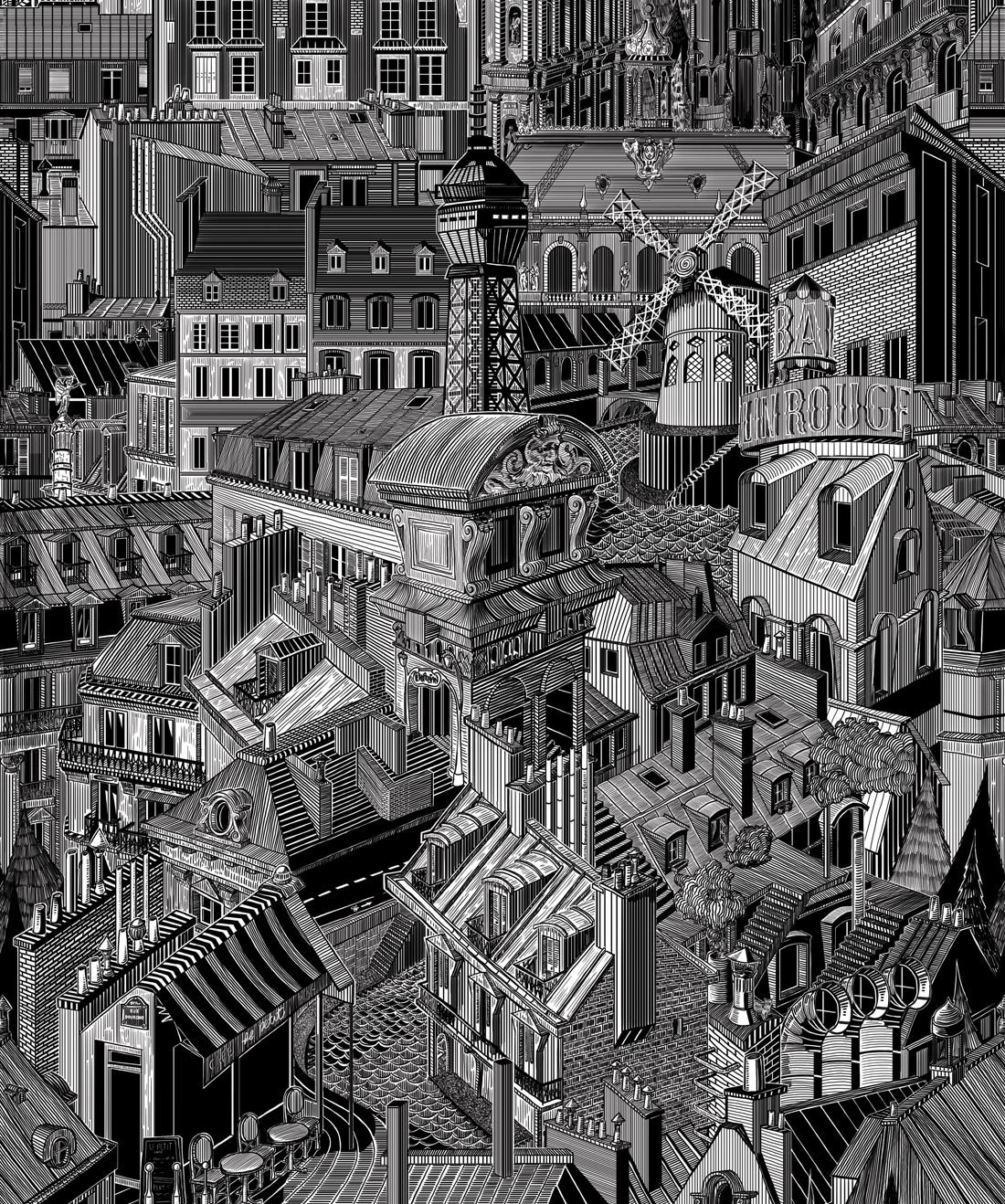 Paris Rooftops Original