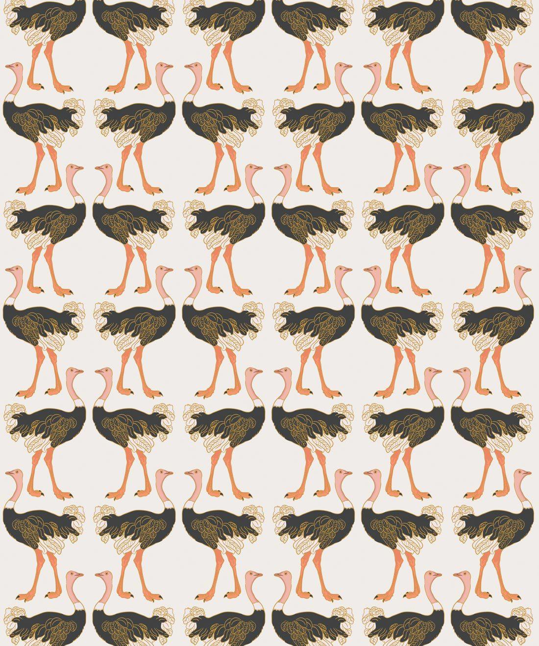 Ostrich Strut Wallpaper •Milton & King