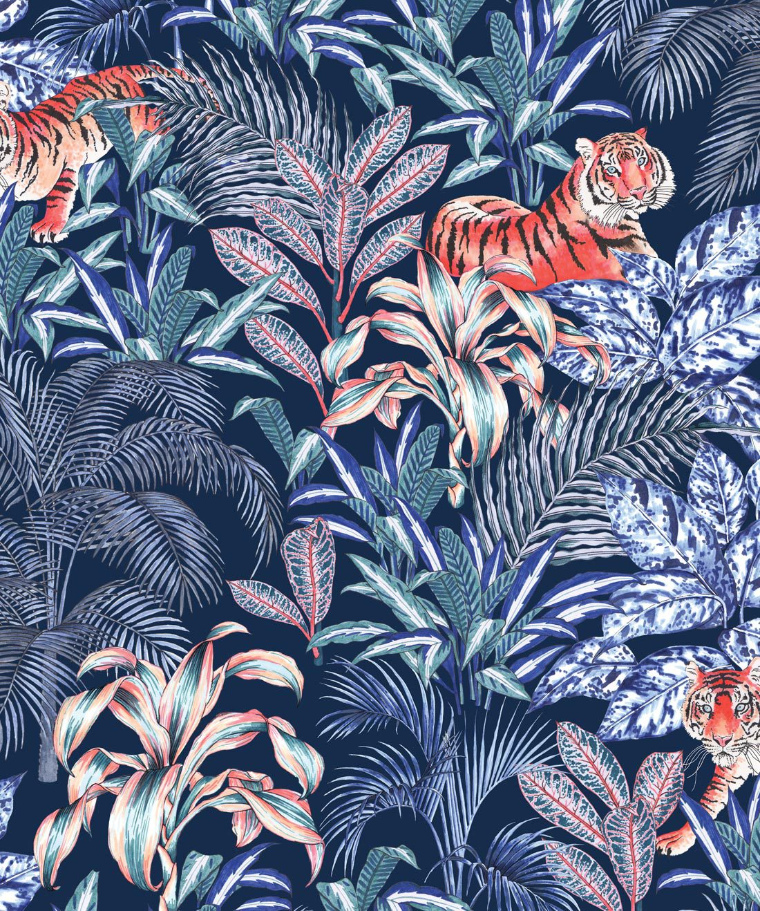 Jungle Tiger Wallpaper Opulent Jungle Design Milton King