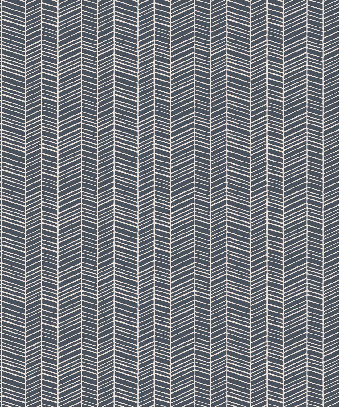 Herringbone Thunderbolt Blue Wallpaper