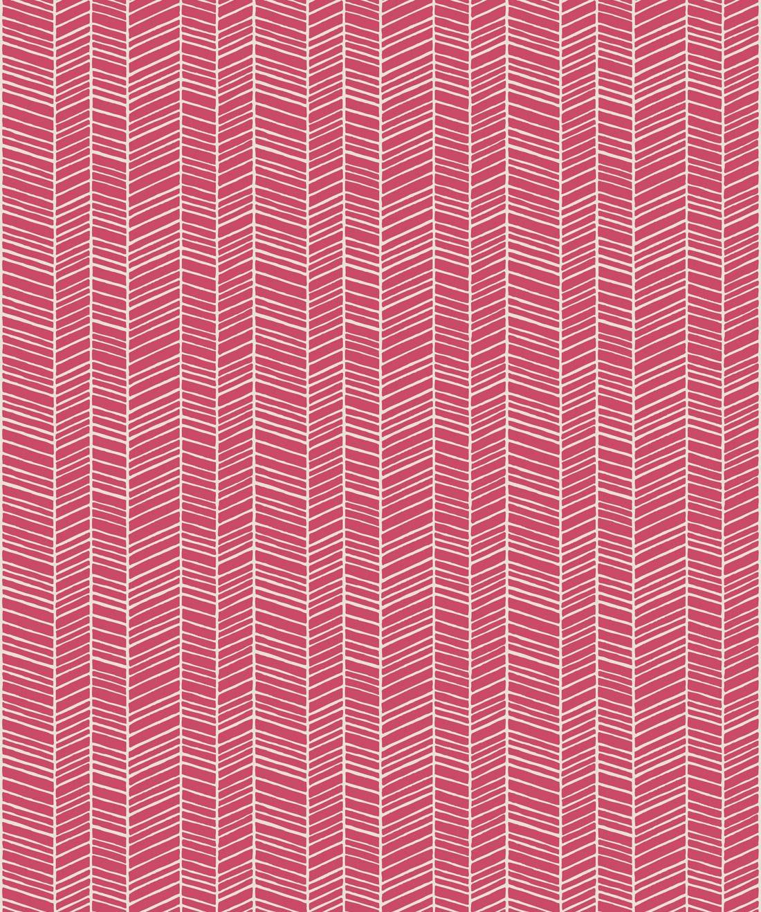 Herringbone Pink Quince Wallpaper