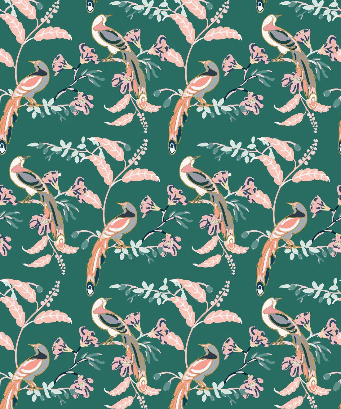 Birds Of Paradise Green Vogue