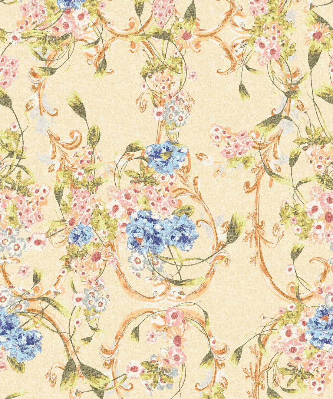 Dainty Vintage Florals Ditsy Floral Wallpaper Milton King