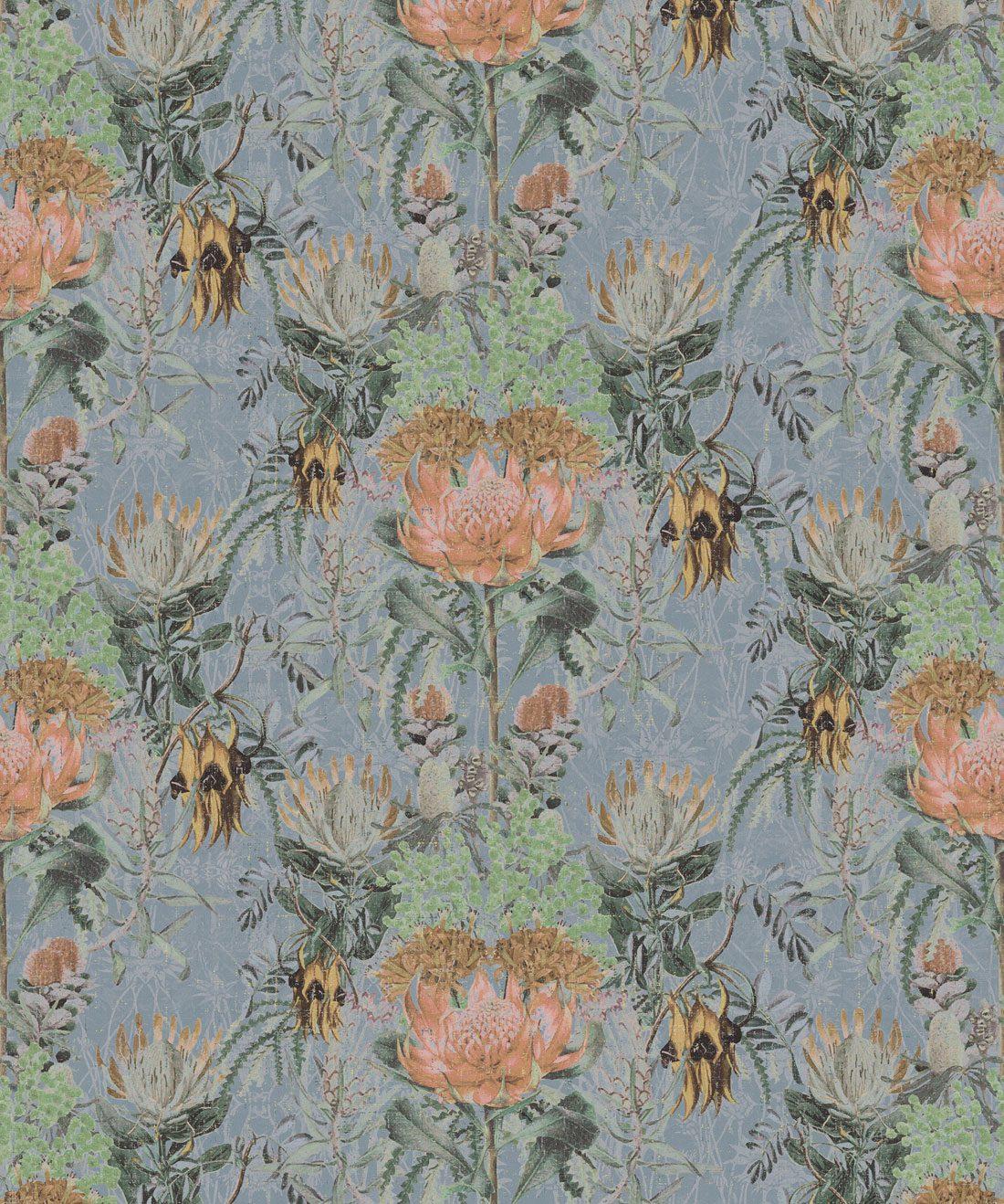 Simcox Wildflowers Grey Wallpaper