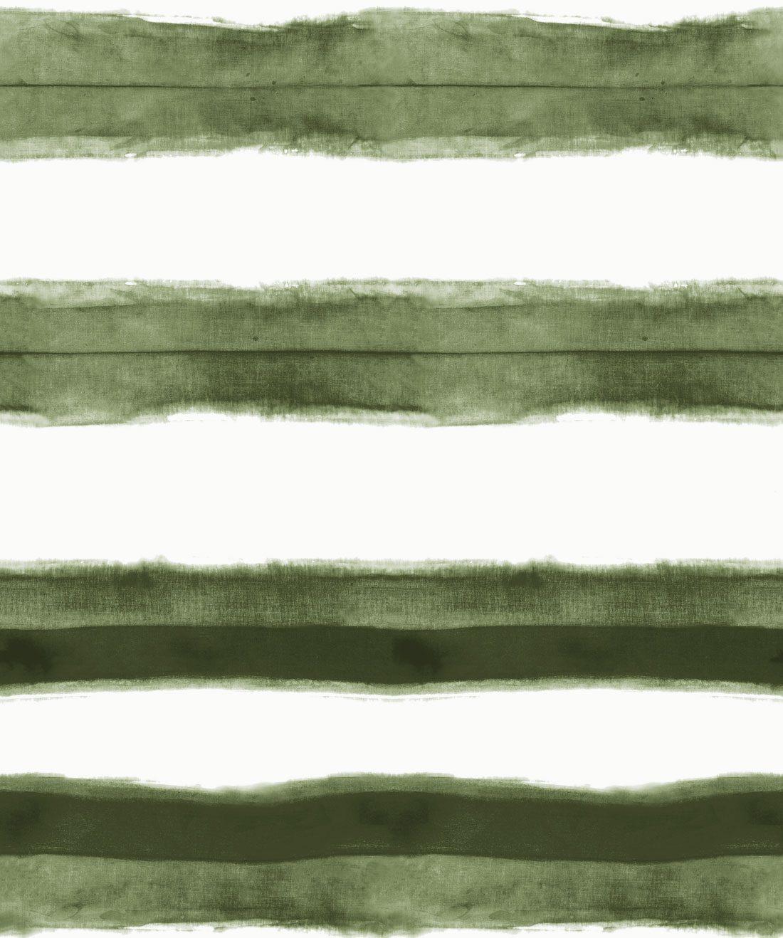 Shibori Stripe Olive Wallpaper