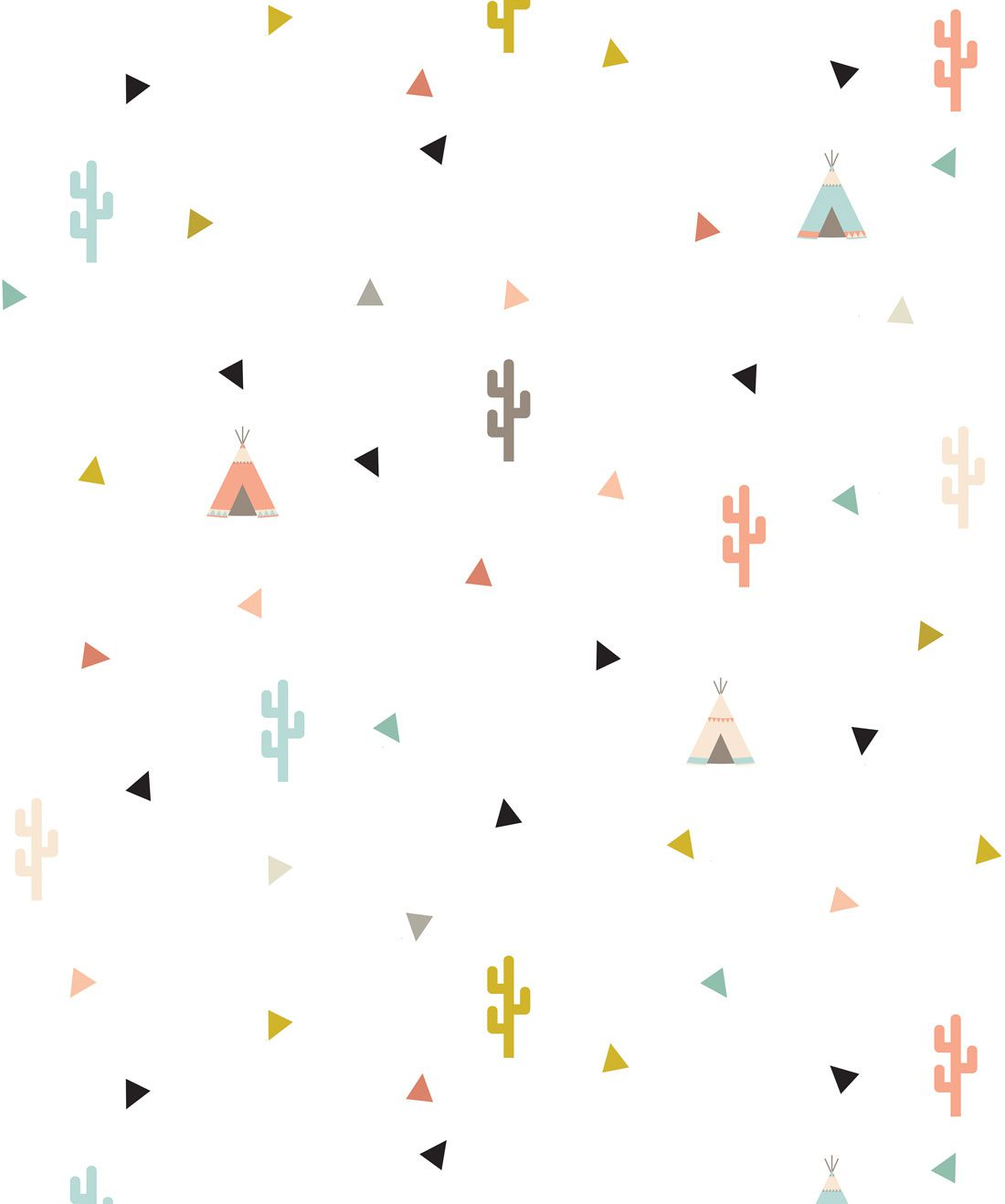 Teepee and Cactus Wallpaper