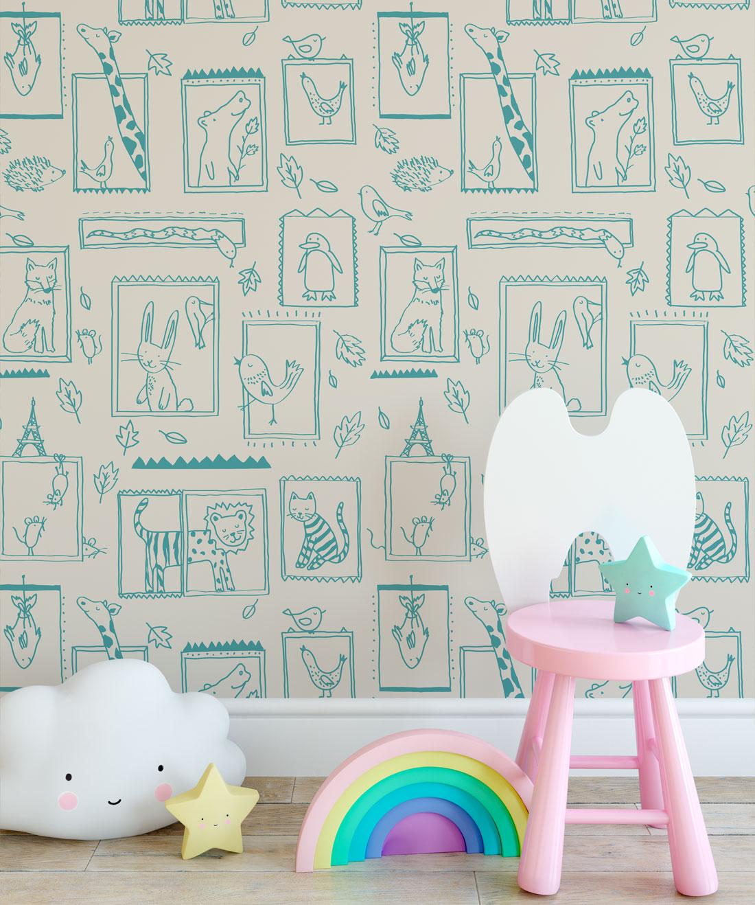 Animal wallpaper • Kids wallpaper • Milton & King USA