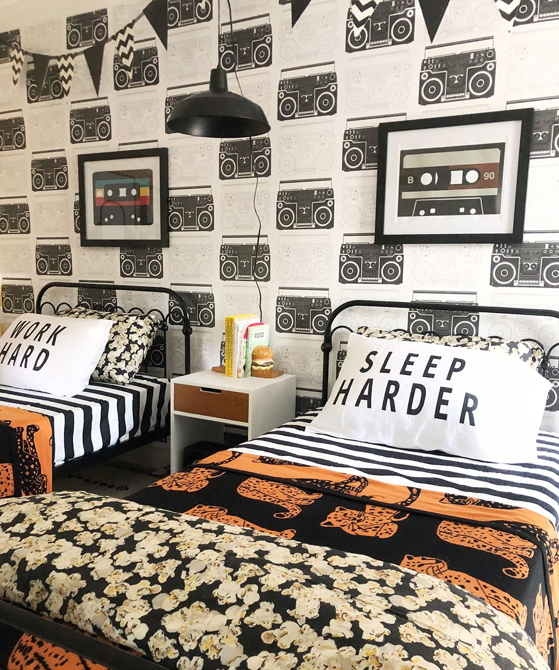 Boom Box wallpaper • Kids Bedroom • Music Wallpaper • Milton & King USA