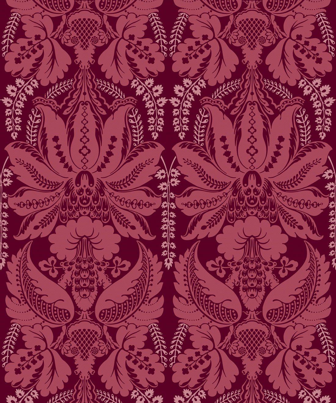 Windsor Wallpaper Crimson
