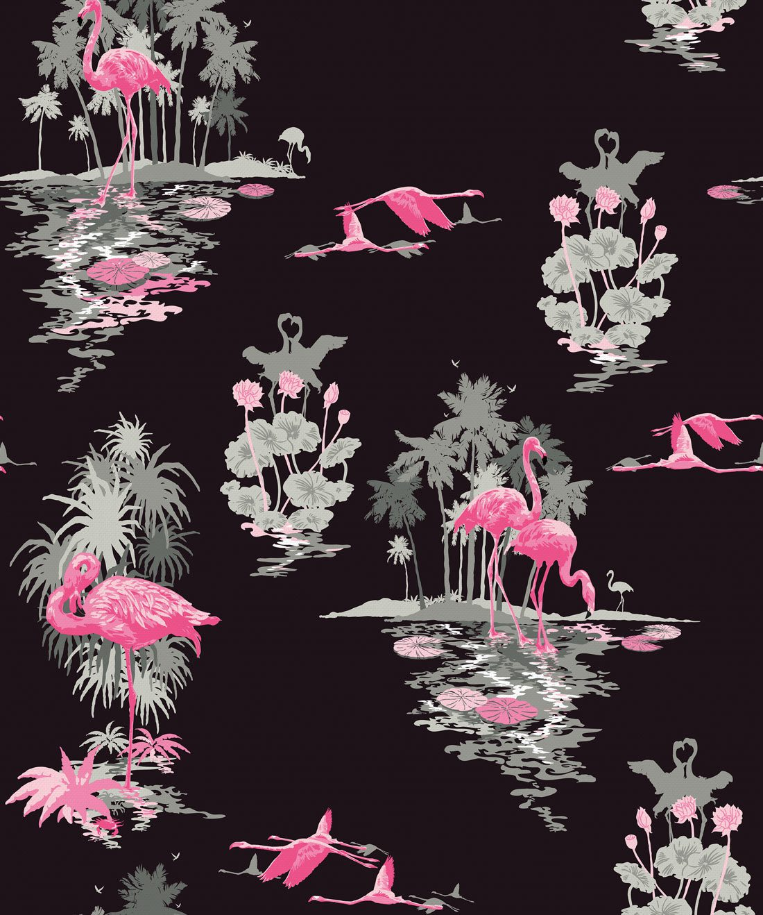 Flamingo Night Wallpaper