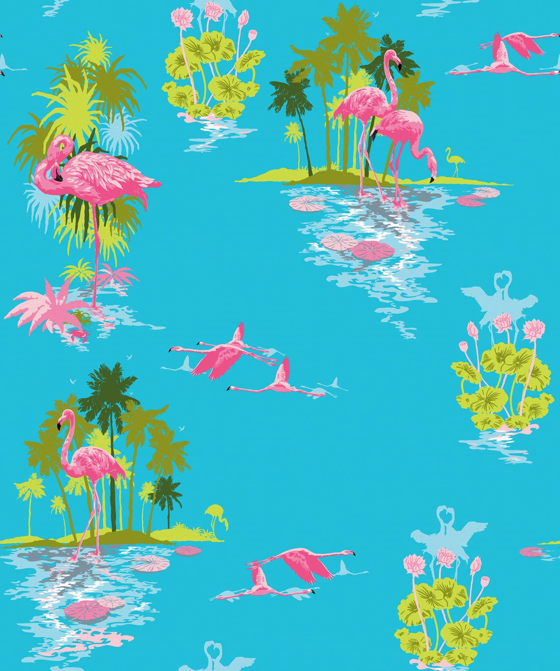 Flamingo Day Wallpaper