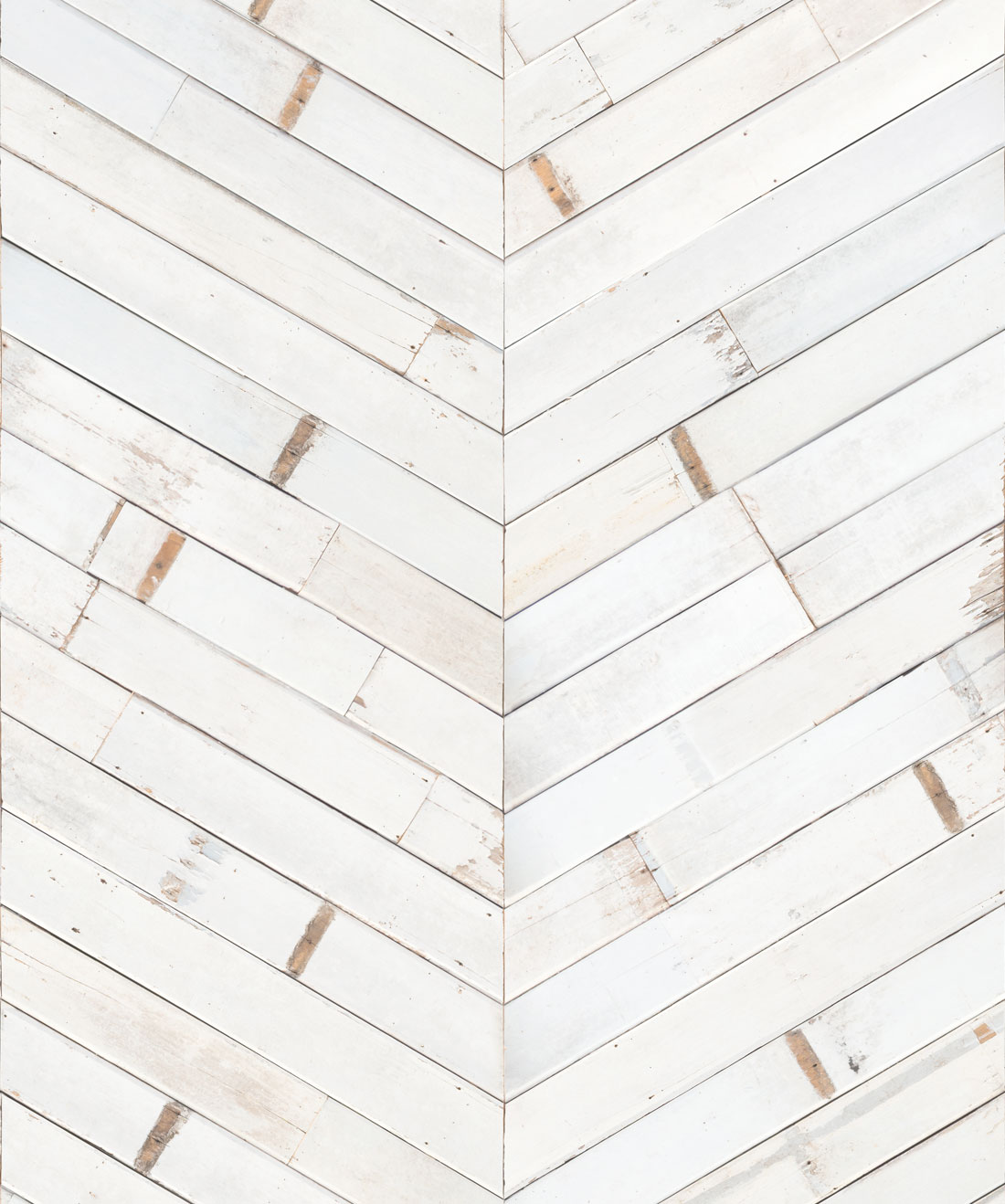 Distressed Timber Chevron Wallpaper