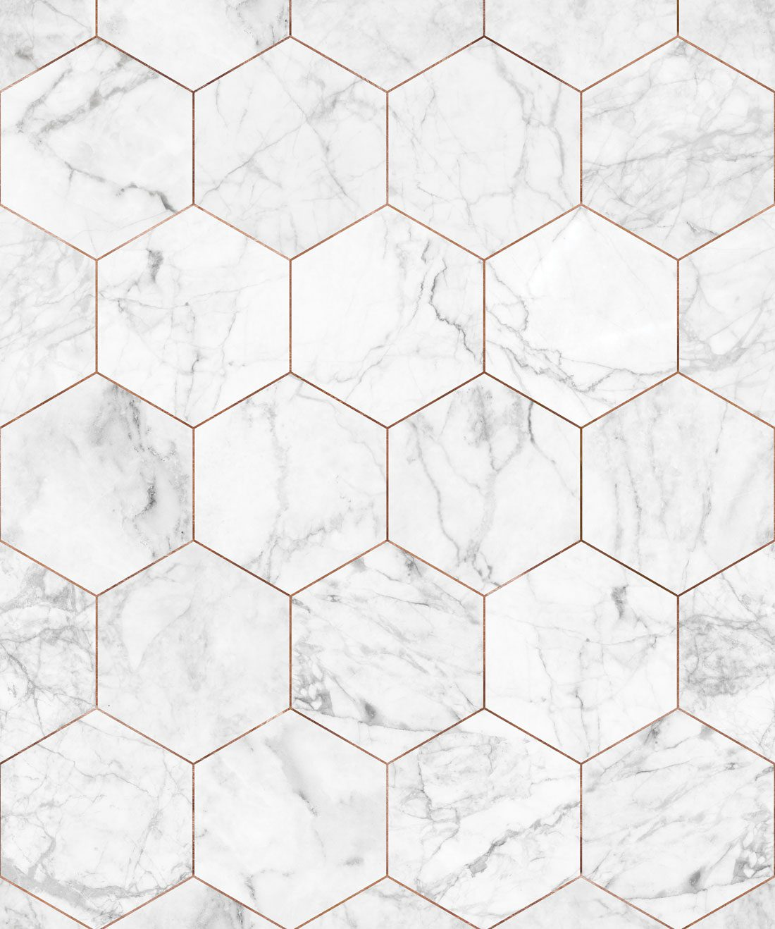 Marble and Copper Tiles Wallpaper