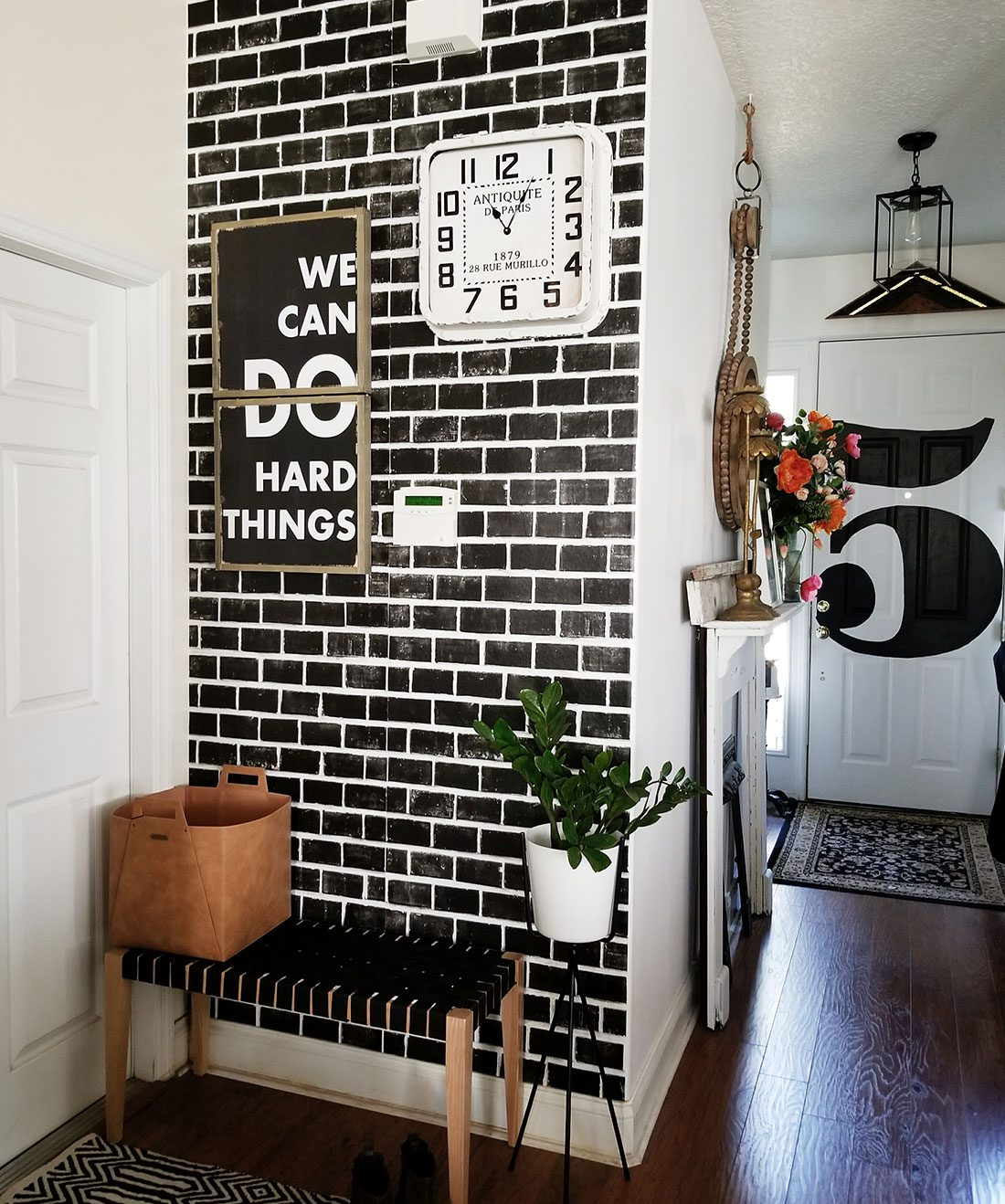 Lubeck Brick Wallpaper •Black Brick Wallpaper