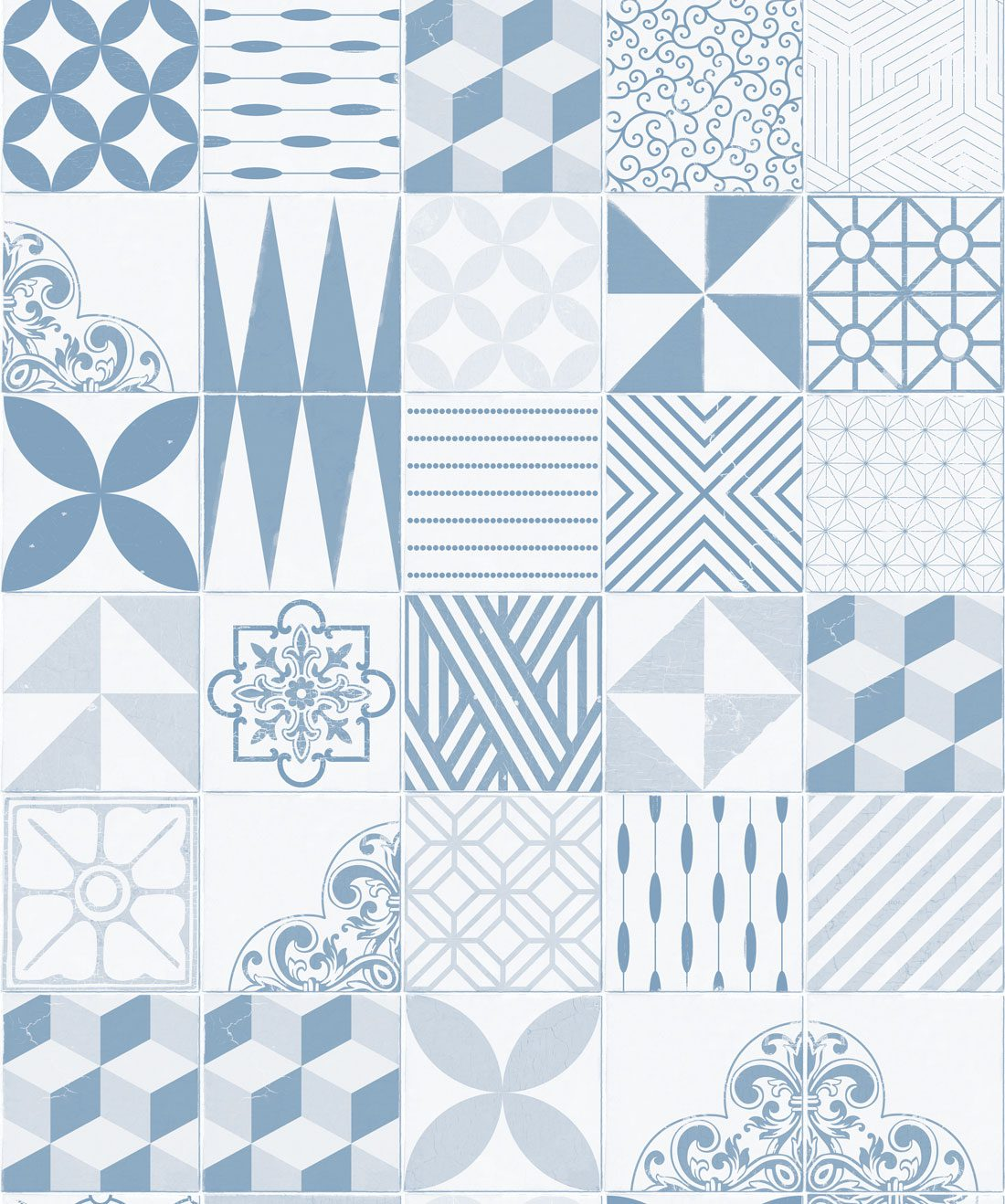 Cement Tiles Pale Blue
