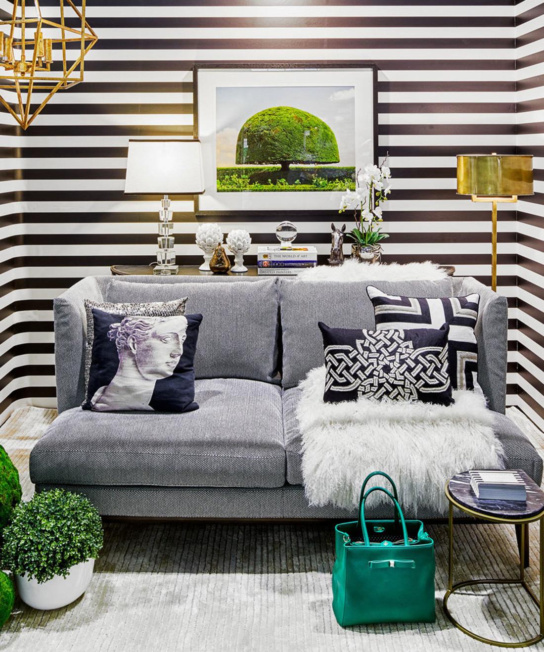 Black White Stripe Wallpaper Bold Yet Elegant Milton King