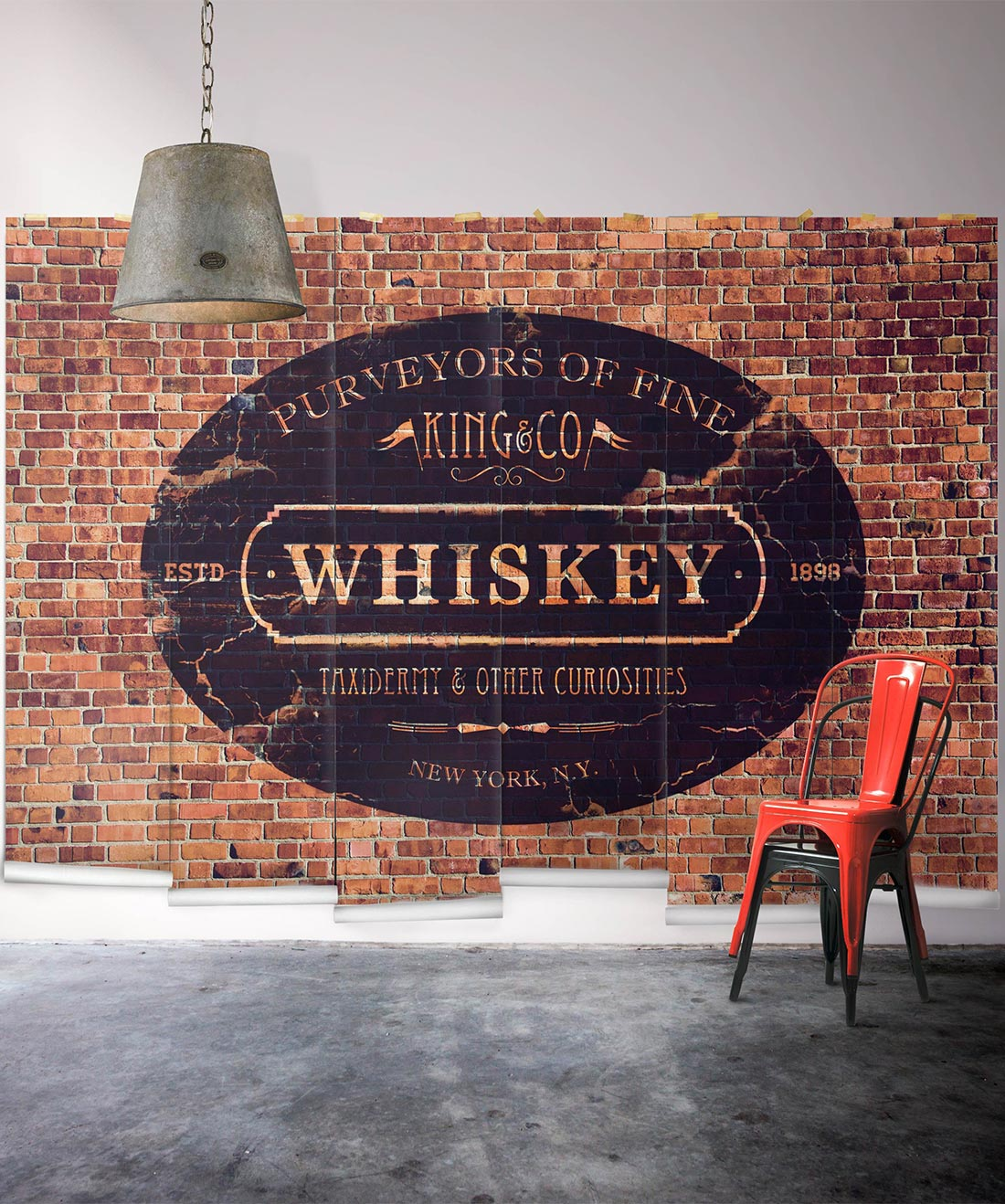 King & Co. Whiskey Mural