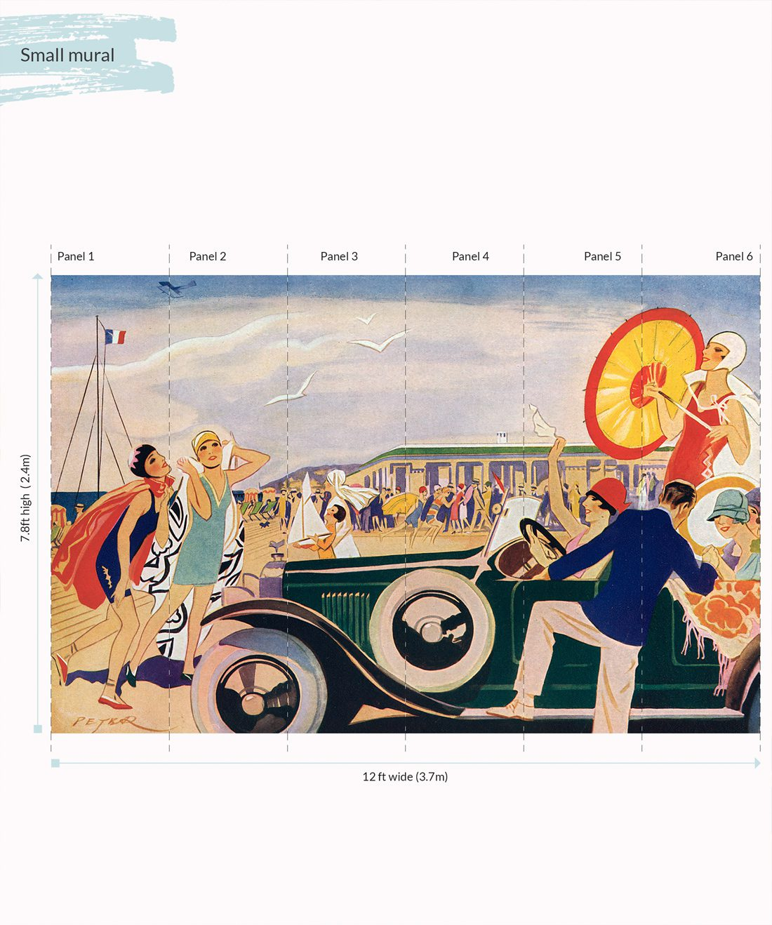 French Riviera Mural - Small