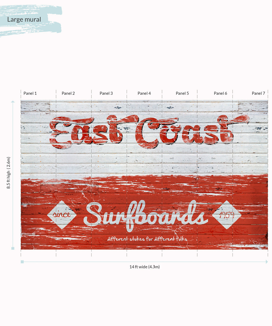 East Coast Surfboards Wall Mural - Large