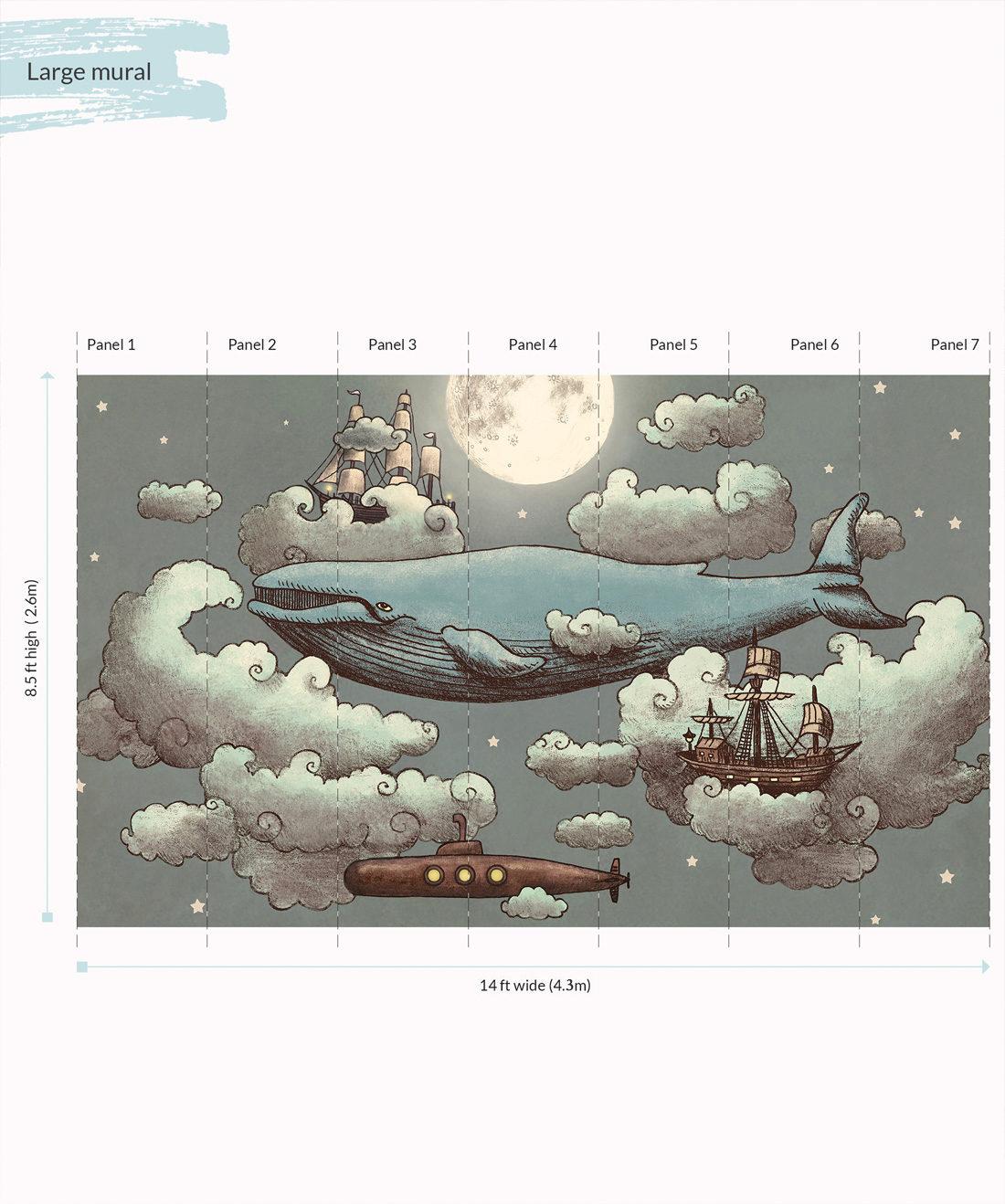 Ocean Meets the Sky Wall Mural - Large