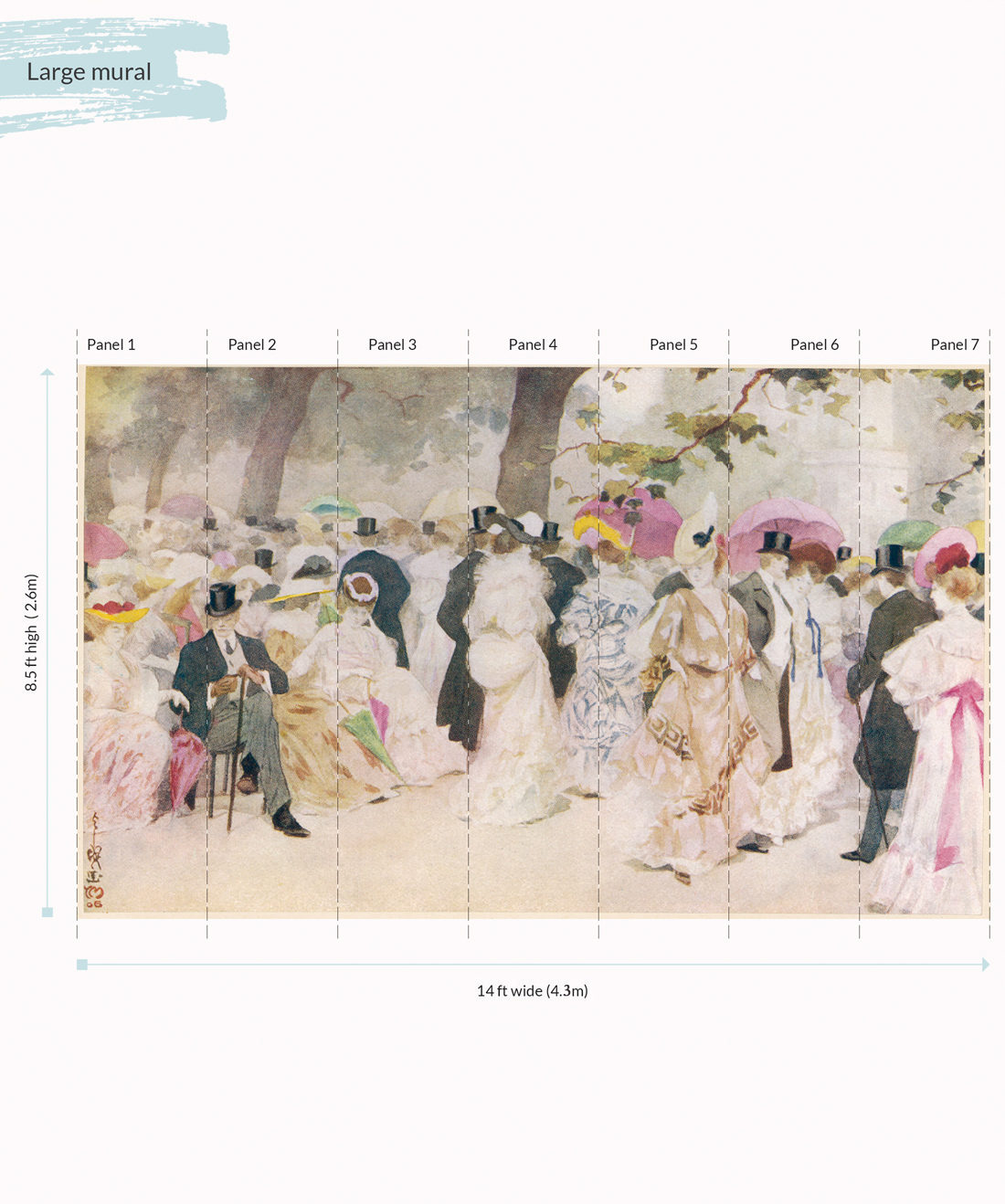 A Jovial Afternoon Wall Mural - Large