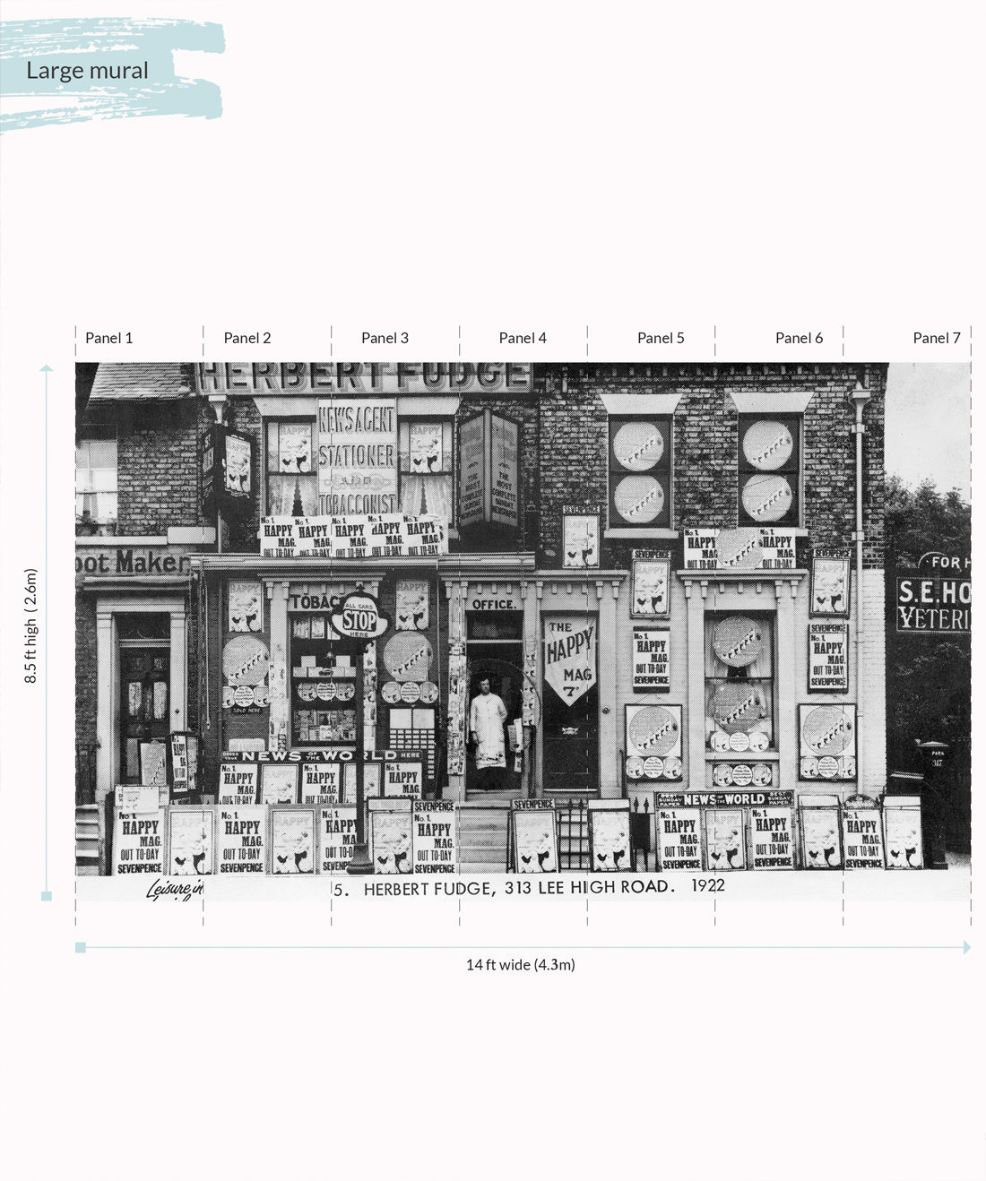 Herberts Off license Wall Mural - Large