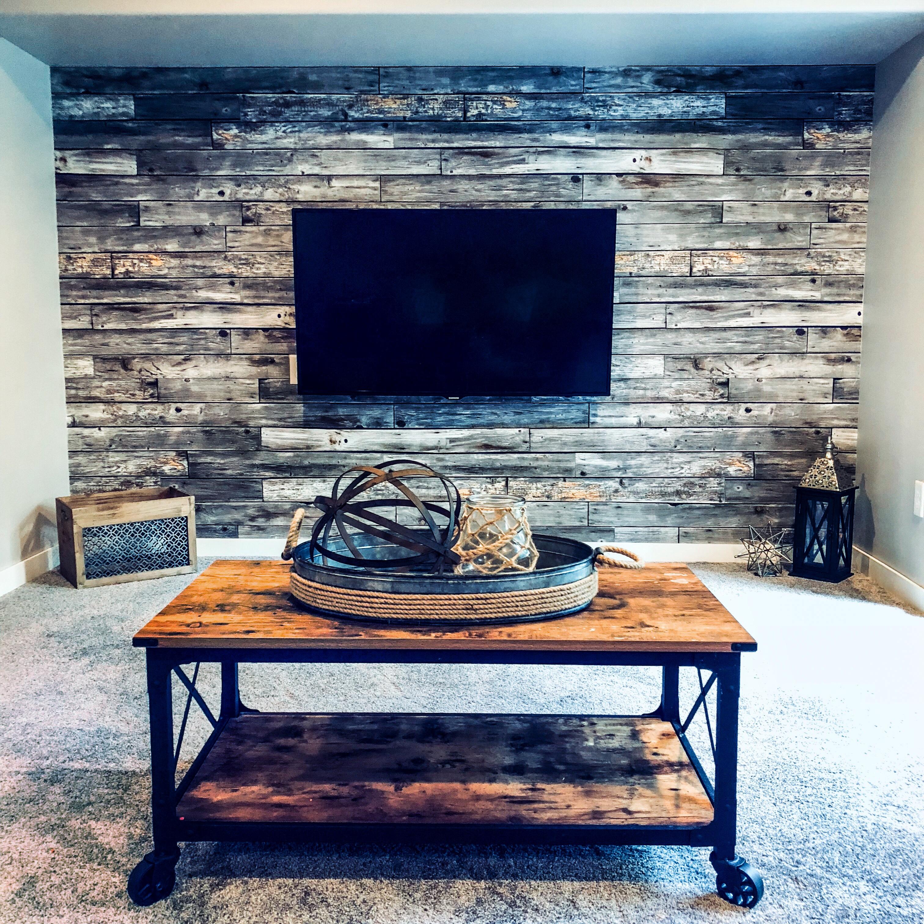 Rustic Wood Panels Install