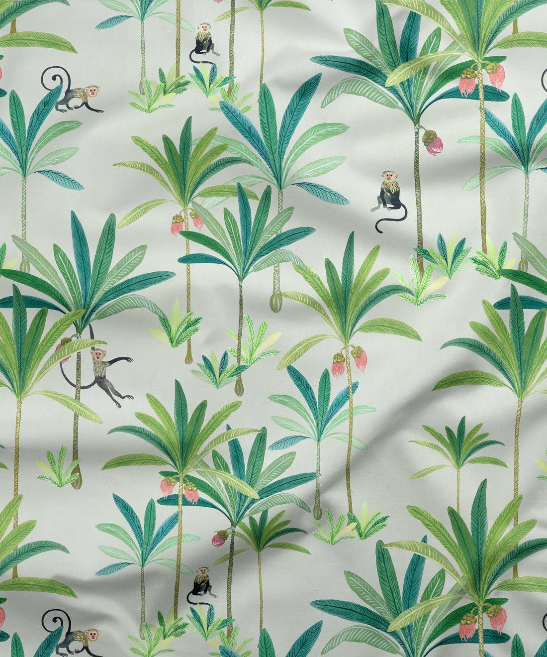Monkey Palm Fabric Cream