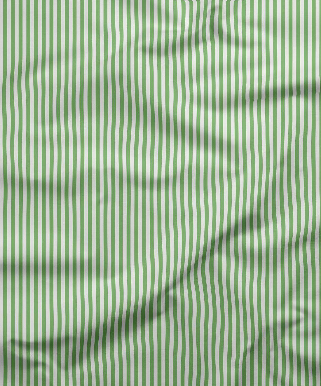 Candy Stripe Fabric Green