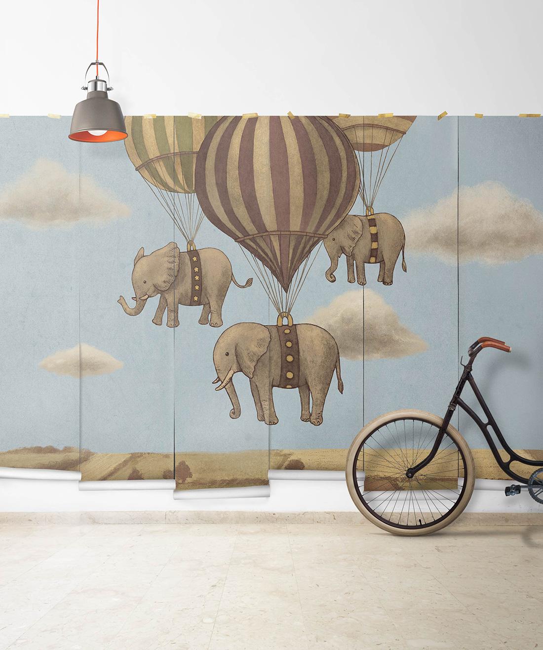 Flight of the Elephants Mural
