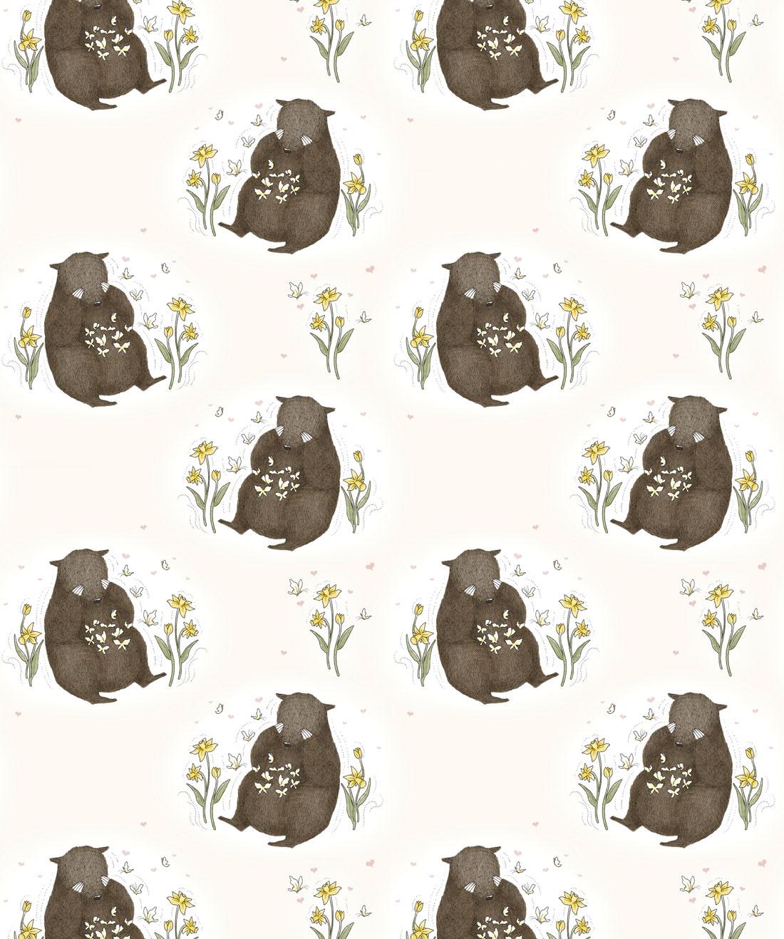 Bear & Butterfly Wallpaper