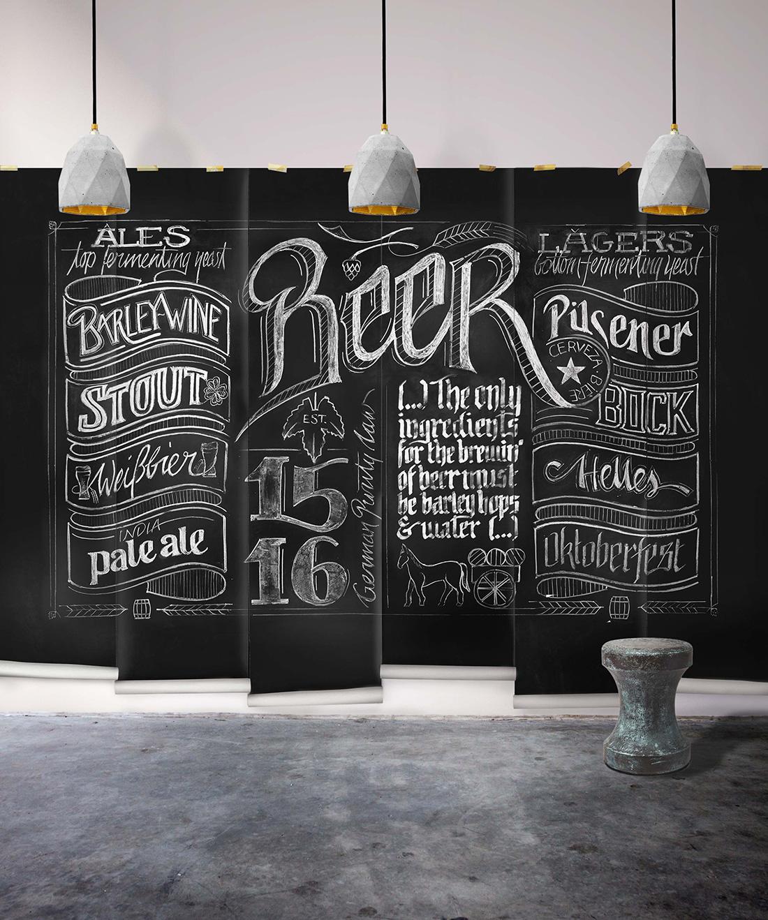 Chalkboard Beer Mural