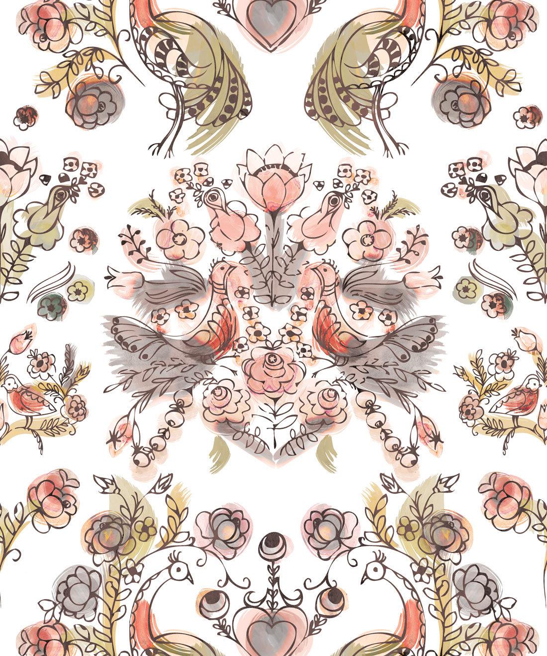 Sixhands - Briar Rose Wallpaper