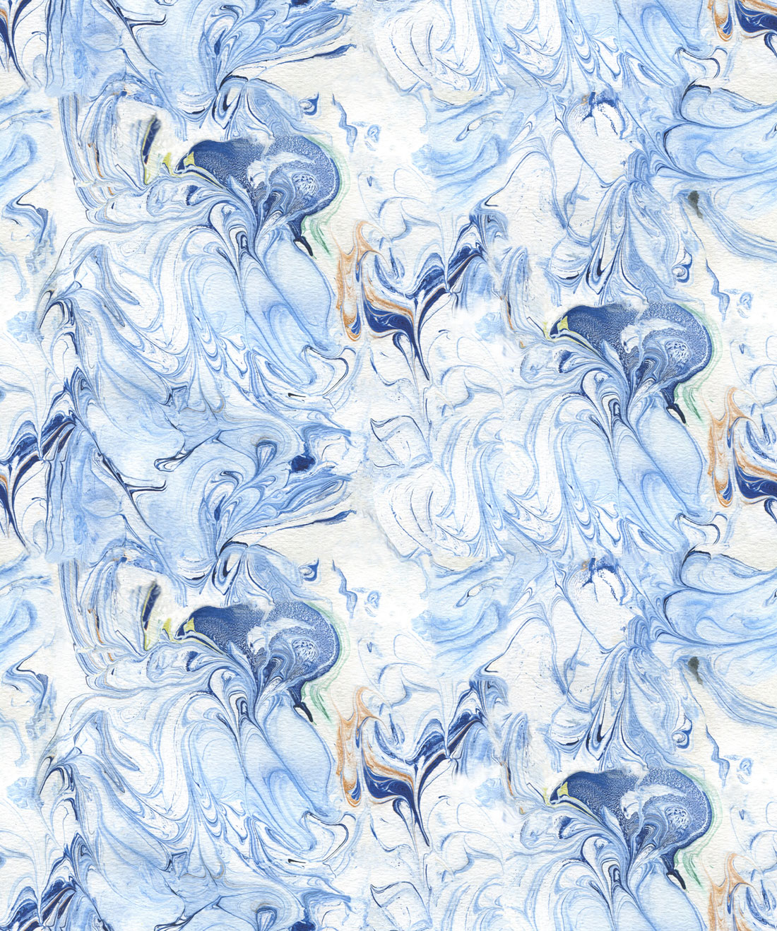 Shibori Birds Wallpaper