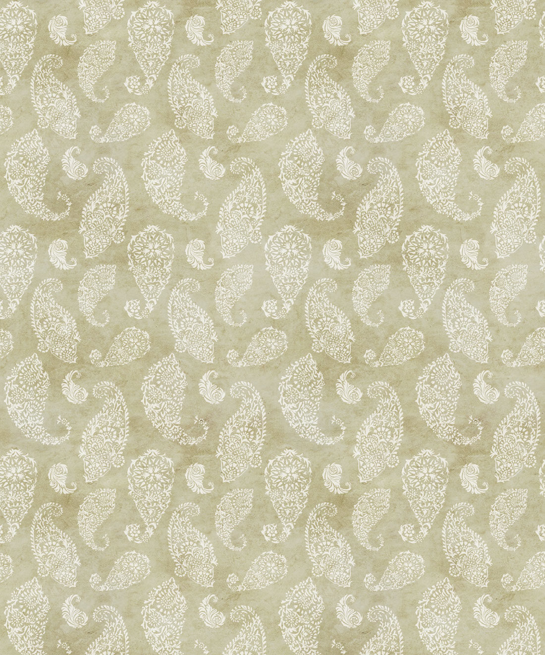 Paisley Wallpaper Chartreuse