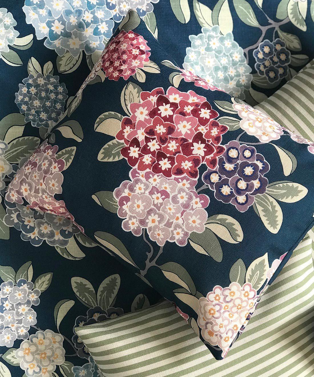 Hydrangea Burgundy Fabric