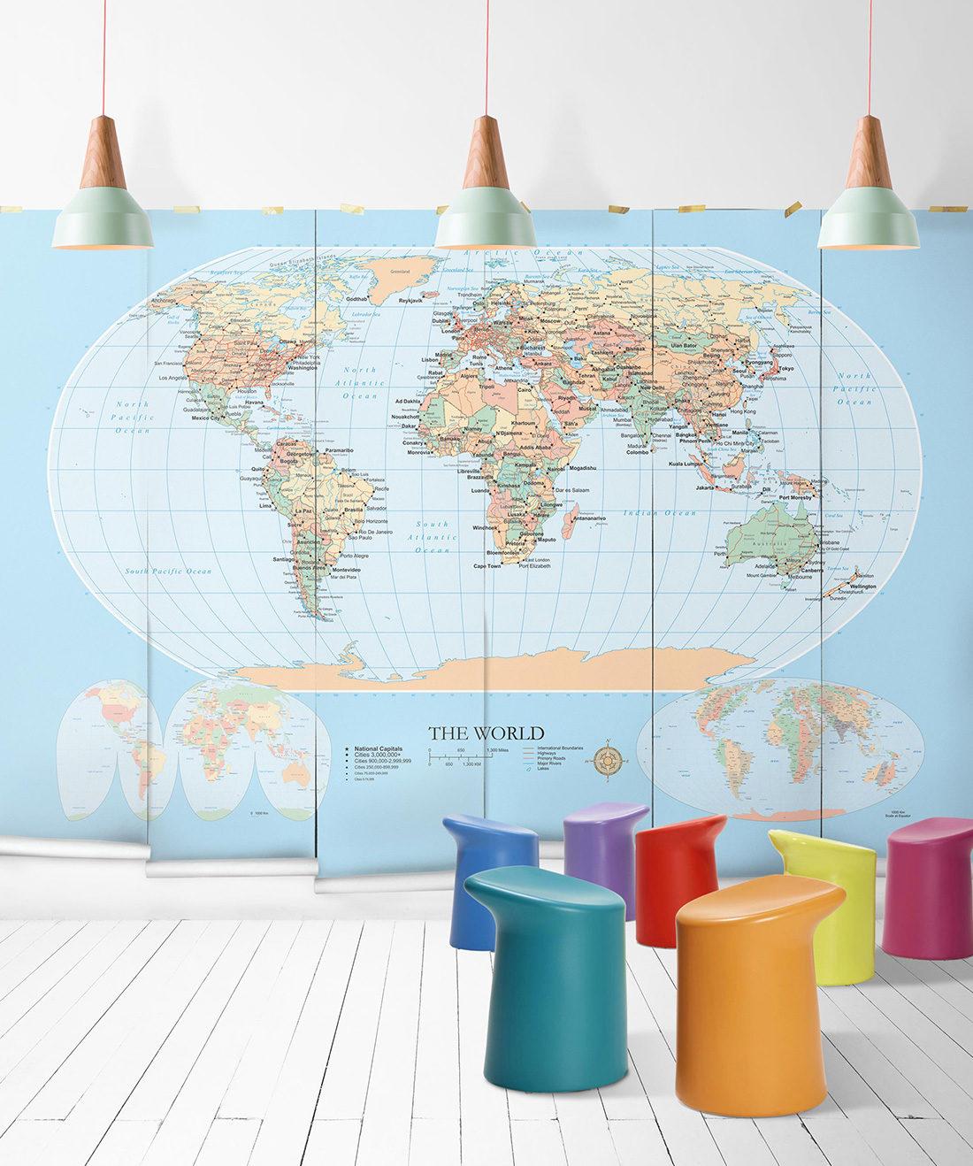 World Map Modern