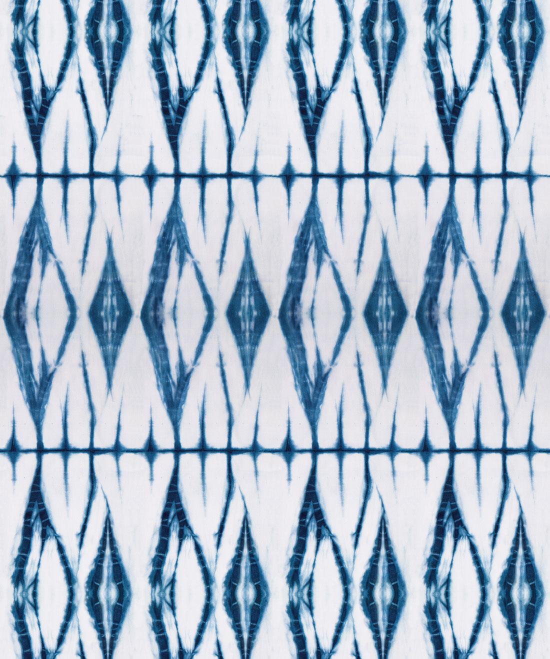 Shibori Diamonds Wallpaper