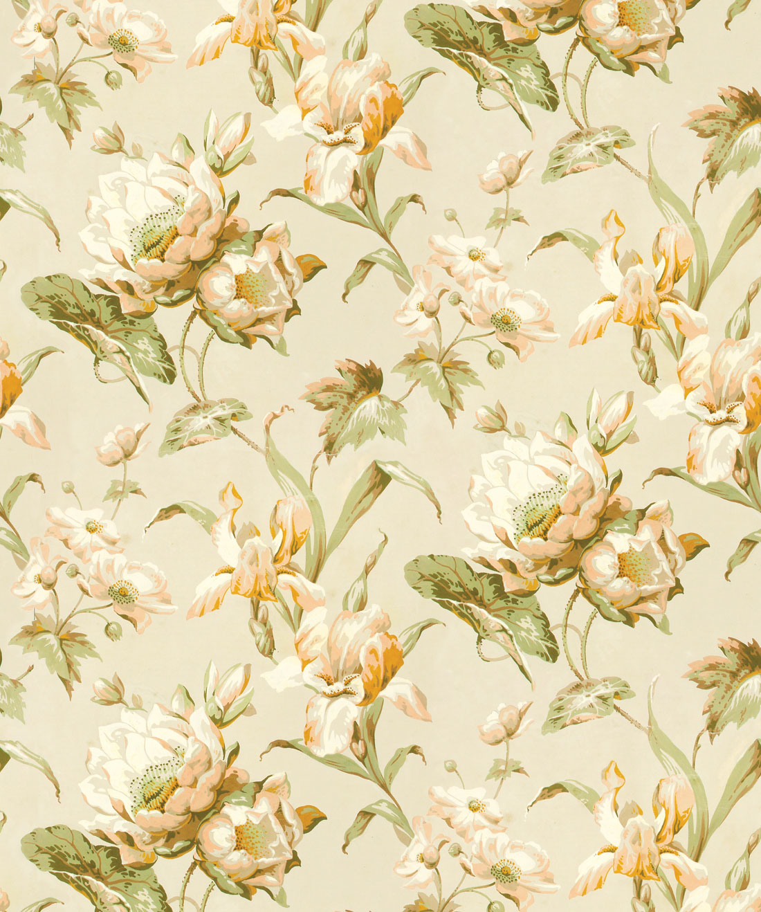 Aux Fleurs Wallpaper