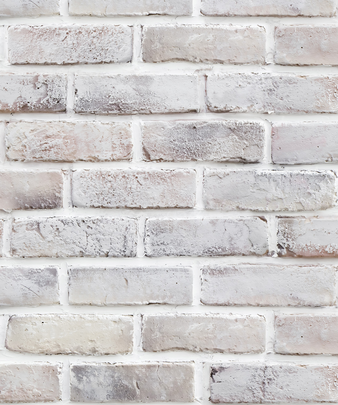 Lime Washed Bricks Wallpaper
