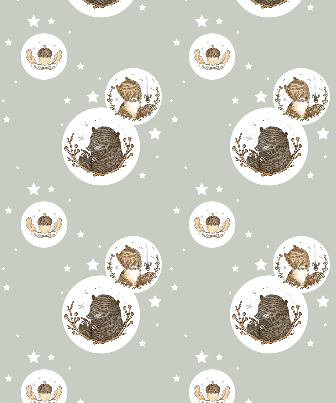Bear & Squirrel Wallpaper