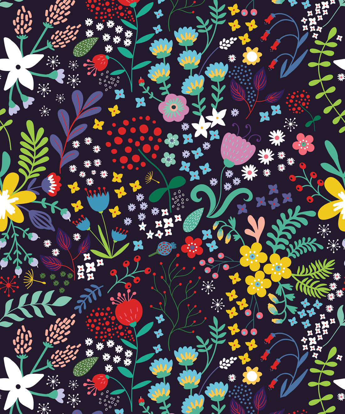 Friday Floral Wallpaper
