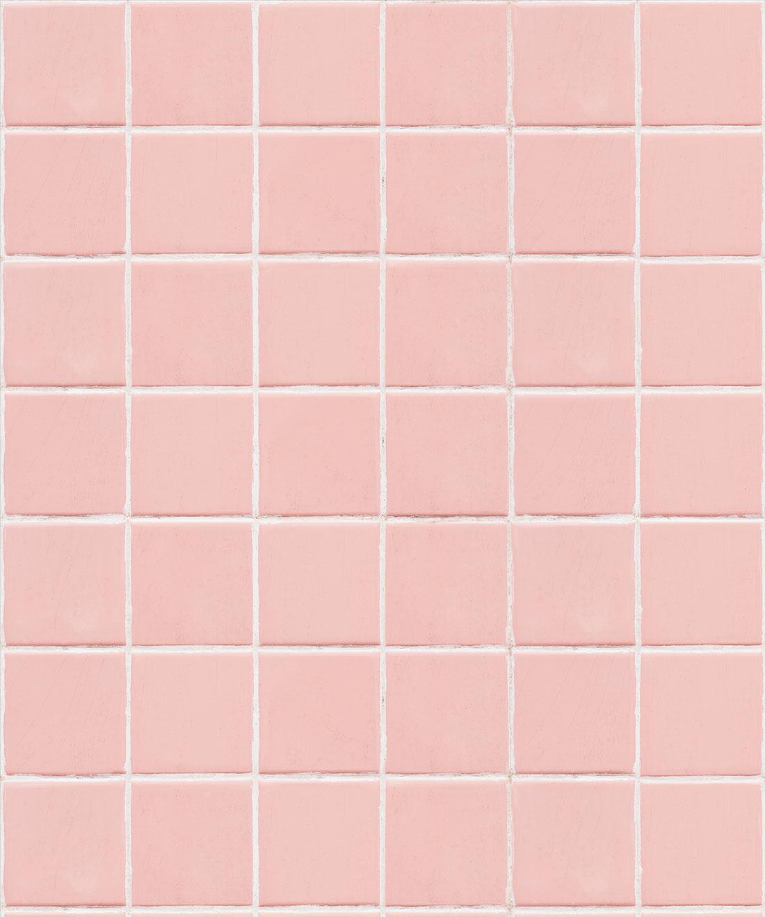 Pink Tiles Wallpaper