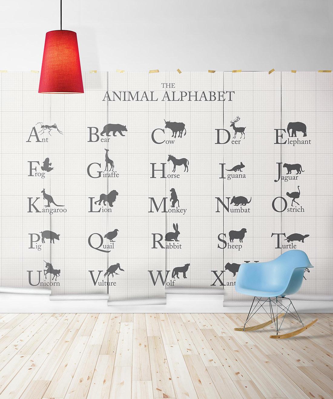 Animal Alphabet Wall Mural - Milton & King