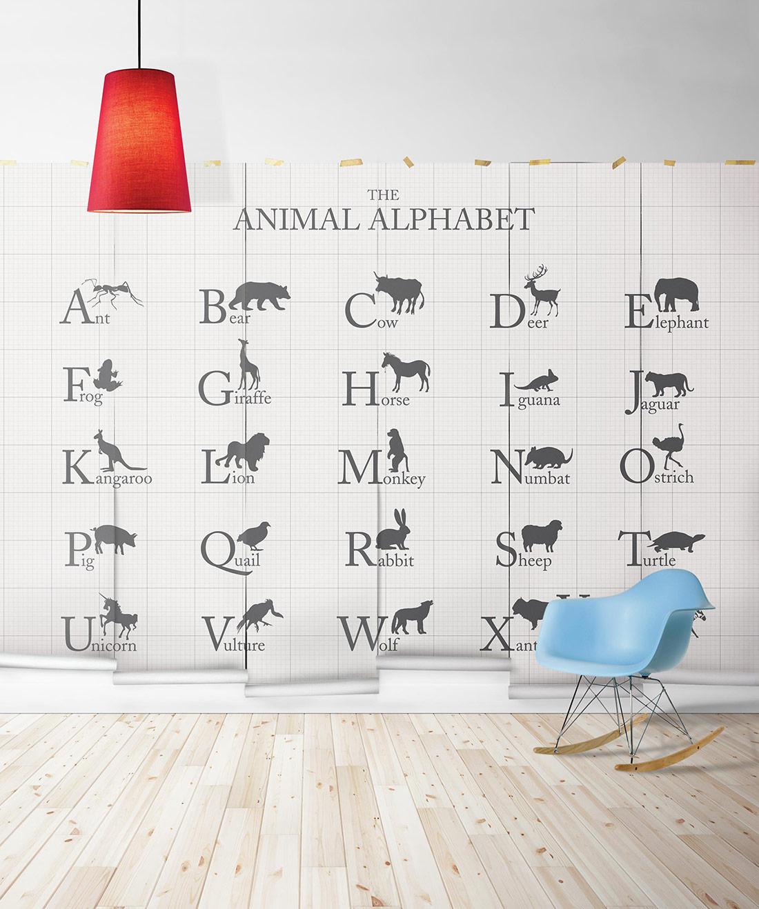 Animal Alphabet Mural