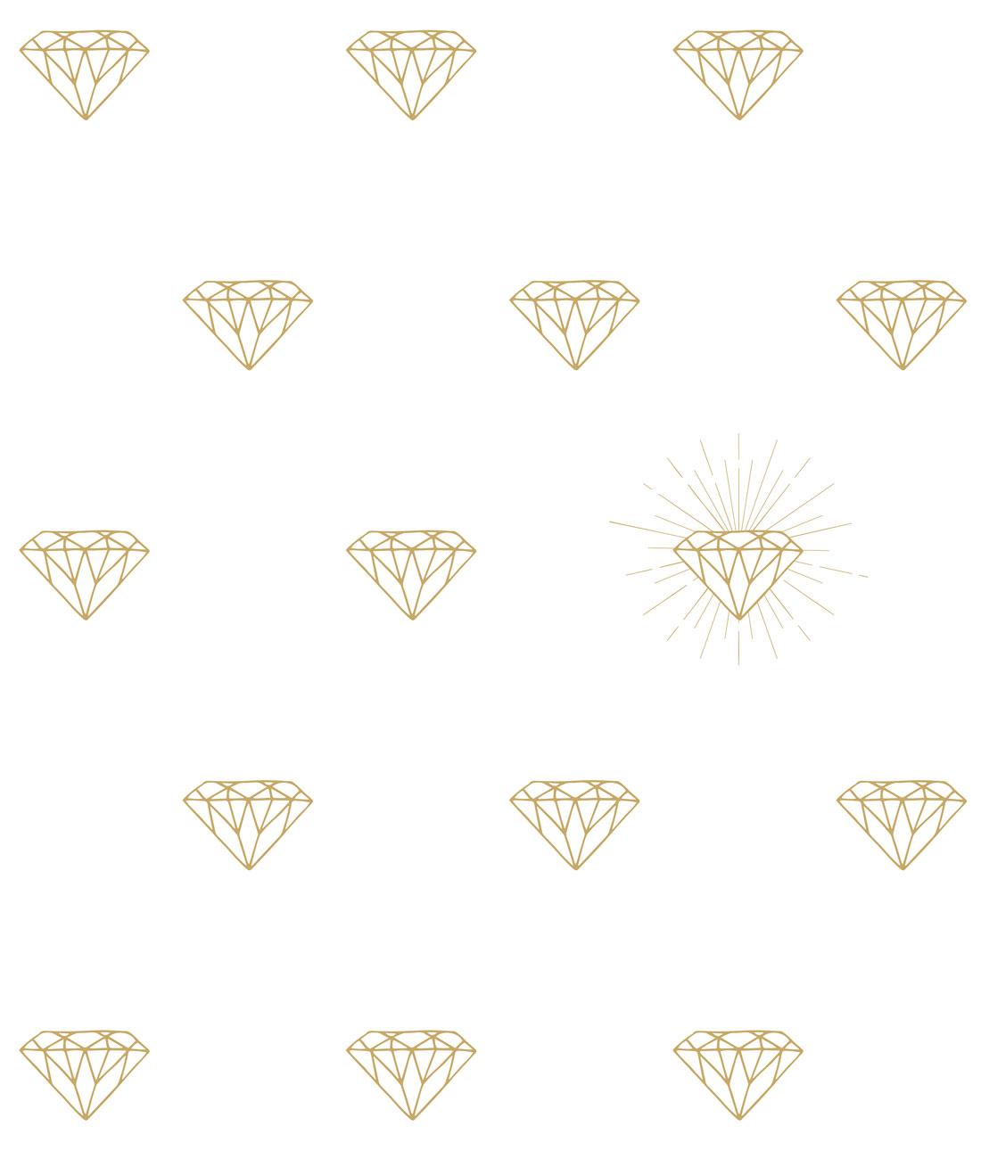 Gold Diamonds Wallpaper Minimal White Wallpaper Milton King Uk