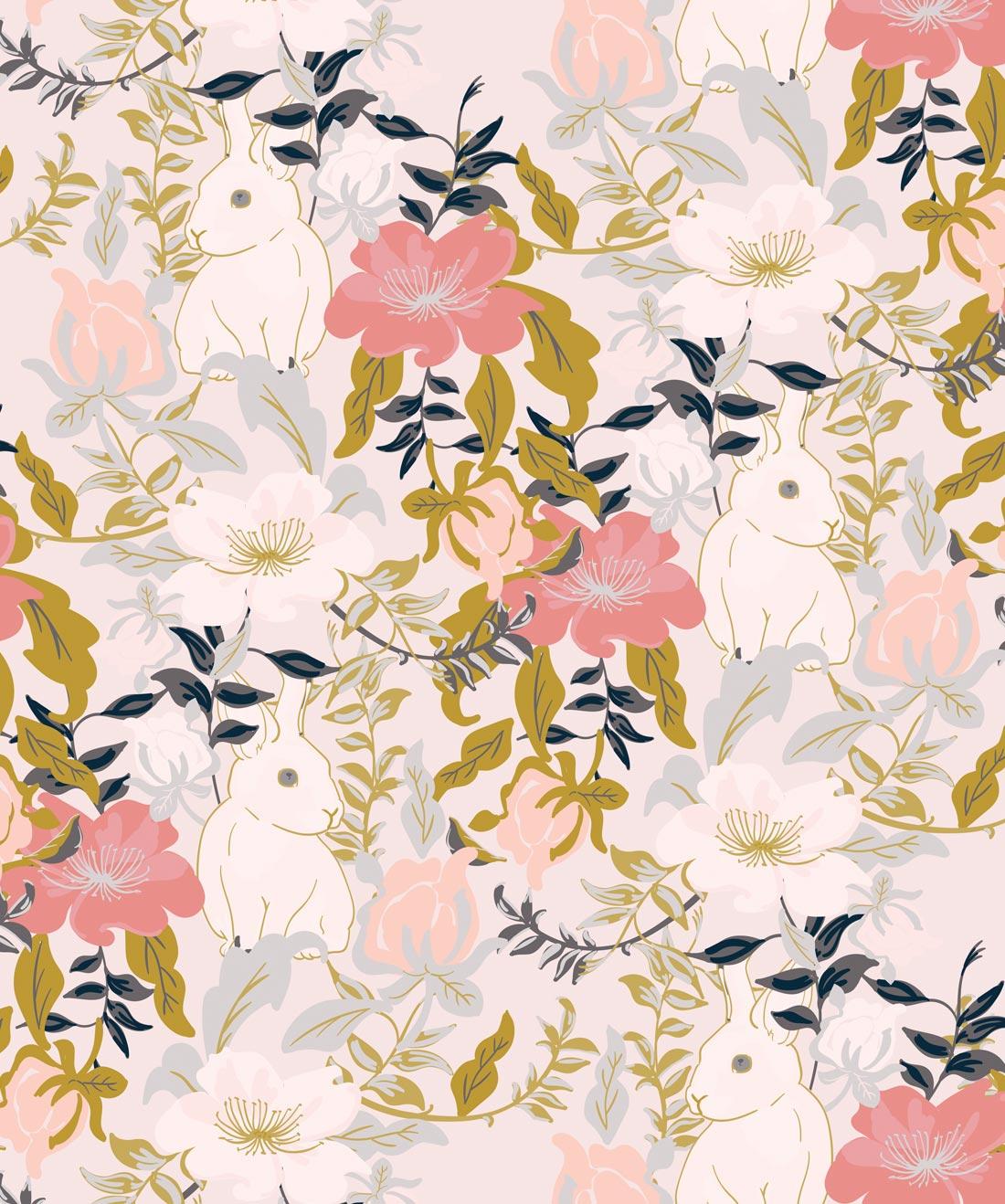 Garden Bunny Wallpaper