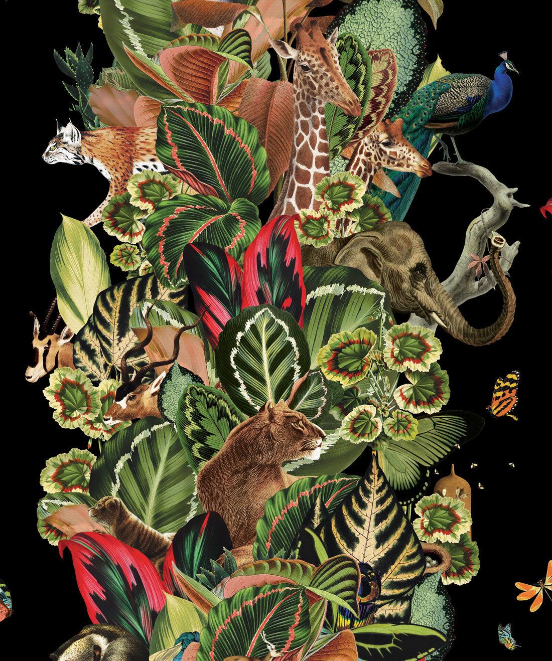 Viva Tropicana, Tropical Wallpaper Black