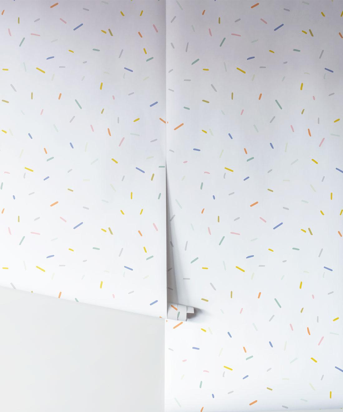 White Confetti Wallpaper Rolls